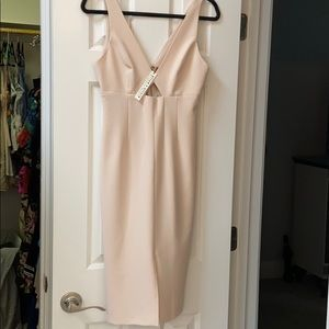 NWT Alice + Olivia nude dress